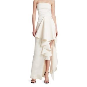 Solace London Strapless Ruffle Gown / Dress